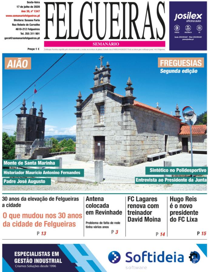 Capa do Jornal desta sexta-feira