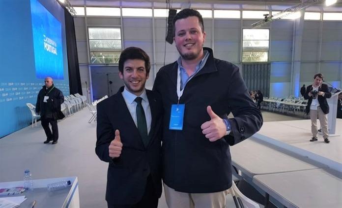 Presidente do CDS-PP e o Líder da JP Felgueiras