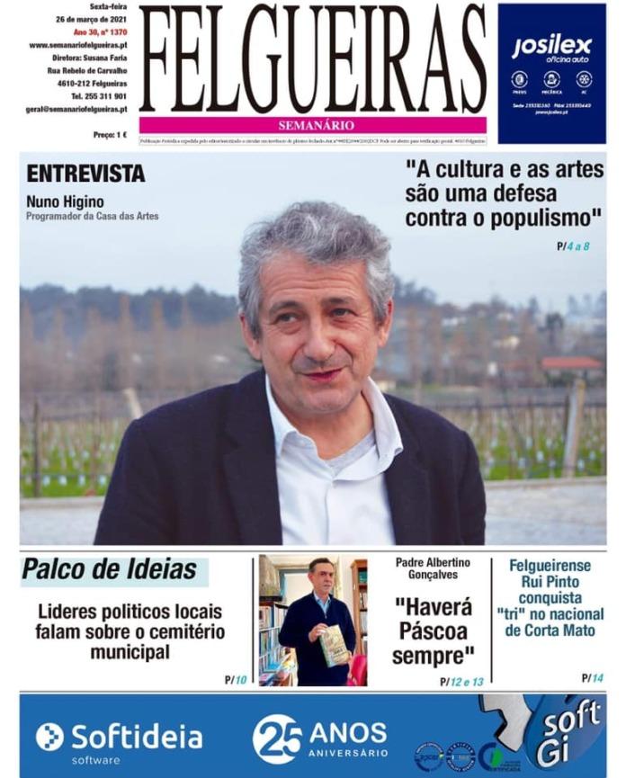 Capa do Jornal - Nuno Higino - Semanário de Felgueiras